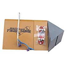 Remeehi Skateboard Ramp and Rail Playset with Fingerboard Swing Board Toy