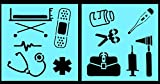 Product Description:Auto Vynamics is proud to offer our new series of craft stencils all about Doctors! This cute, clinical stencil set includes everything from a stethoscope to a gurney! Also included are favorites like a bandaid, a syringe, a therm...