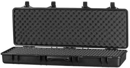 ARSUK Estuche rígido para Pistola de Airsoft BB, Balines y Cartuchos Bolsa - Interior de Espuma (105cm Negro)
