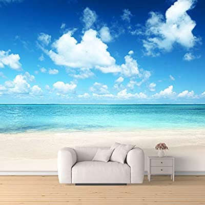 Elegant Style, Premium Product, Wall Mural Romantic Beach Removable Wallpaper Wall Sticker for Bedroom Living Room