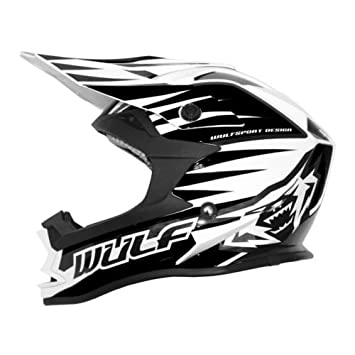WULF ADVANCE Adultos Casco de Moto Casco Off Road Casco de MotoCross Enduro Quad ATV Scooter