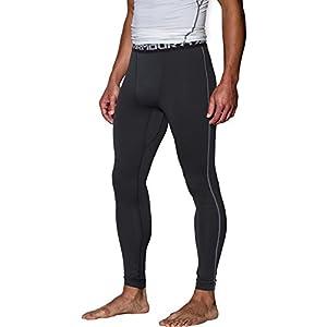 Under Armour Men's ColdGear Armour Compression Leggings, Black/Steel, Large