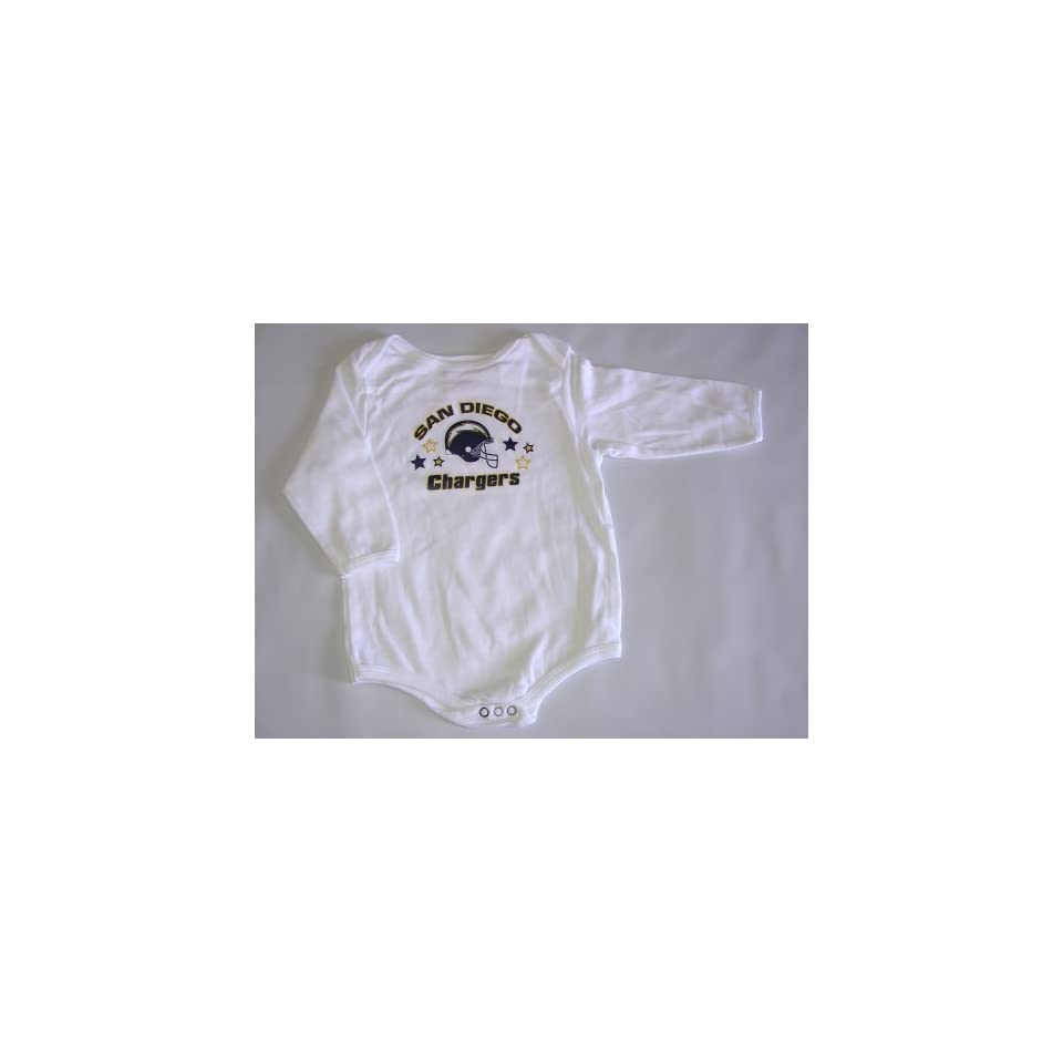San Diego Chargers NFL Baby/Infant Wht Long Sleeve 0 3 months