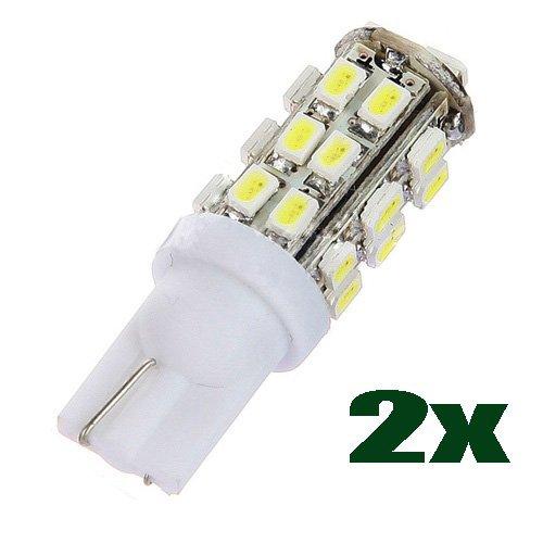 2 opinioni per SODIAL (R) 2X Bianco 28 LED SMD T10 W5W 501 194 168 luce auto interiori