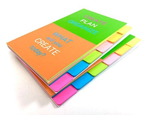 ROXSTAR STUDIO Sticky Notes 4 x 6 Ruled Tabbed Sticky Notebook 66 Sheets - 2 Pack Notebook 132 (132 Zone Package)