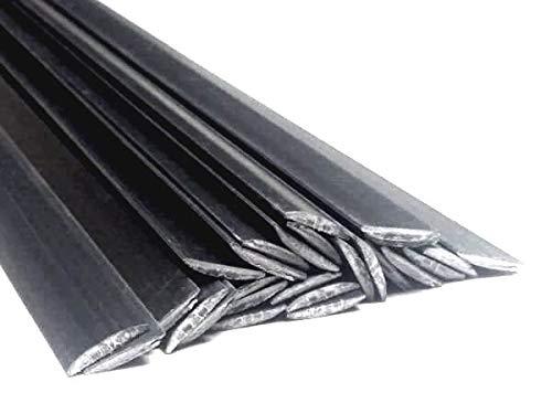 Alambre de soldadura de pl/ástico PPE-PA 8x1mm Plano Negro 25 barra
