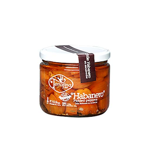 Pickled Habanero Peppers 10.9 Oz. - Habanero en Escabeche 310 g. (Pack of 1)