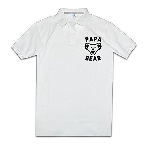 Papa Bear Men Polo Style M White