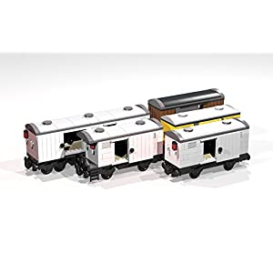 Collection of eight 4- and 8-Wheel Reefers and Box Cars: Lego MOC building instructions (Lego Train MOC Plans)