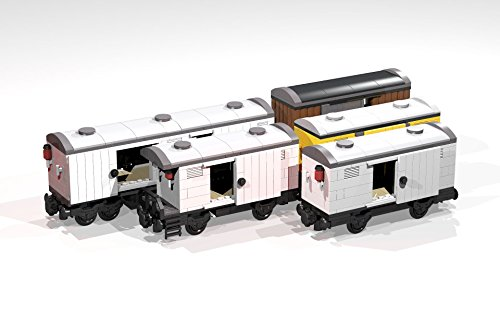 (Collection of eight 4- and 8-Wheel Reefers and Box Cars: Lego MOC building instructions (Lego Train MOC Plans))