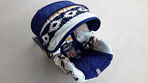Infant Car Seat Cover Aztec Tribal Print Baby Slipcover
