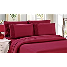 Bamboo Living 3 Piece Duvet Cover Set With Pillow Shams - Queen - Red