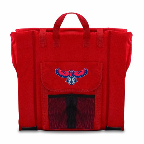 PICNIC TIME NBA Atlanta Hawks Portable Stadium Seat, Red by PICNIC TIME