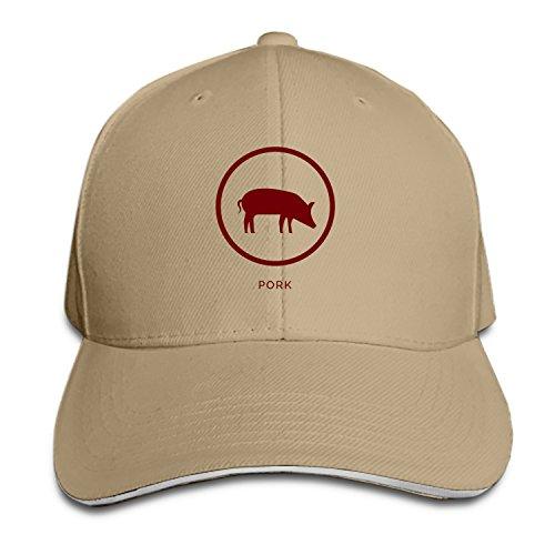 (COLG No Pork Adjustable Sandwich Baseball Cap Cotton Snapback Peaked Hat)