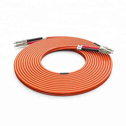 10 Meter Multimode Duplex Fiber Optic Cable (62.5/125) - LC to LC - Orange ()