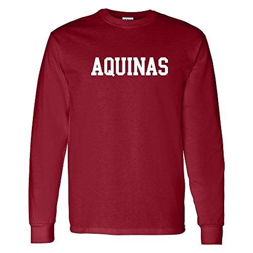 AL01 - Aquinas Saints Basic Block Long Sleeve - Small - Garnet ()