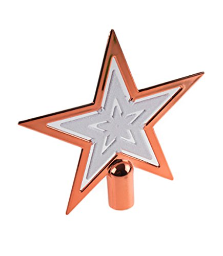 - Clever Creations Copper Christmas Tree Topper Star Festive Christmas Decor | Sparkling White and Copper Shatter Resistant Plastic | 6.5