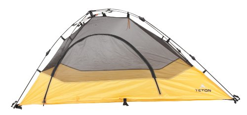 TETON Sports Outfitter Quick Tent; One-Person Pop-Up Tent; Instant Setup - Less Than 1 Min; Camping and Backpacking Tent; Easy Clip-On Rainfly Included