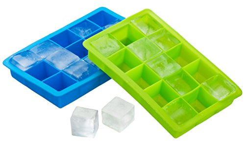 Kuuk Silicone Ice Cube Tray (Twin Pack) Blue and Green