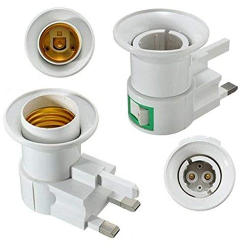 AirBlade Lights & Lighting - Uk Plug E27 B22 Wall Screw Base Light Bulb Lamp Socket Holder Adapter Converter 110-240v