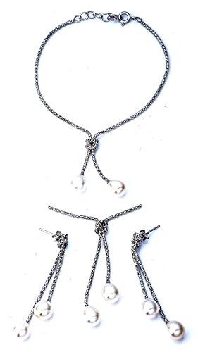 Ana Morales Bijou Femme Kit perles bijoux argent 925+ véritable collier argent 925