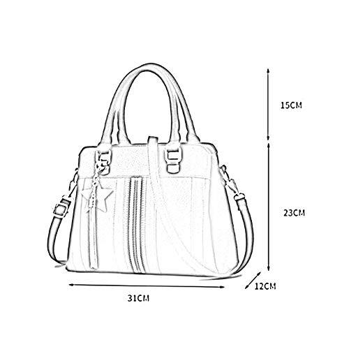 610 Couleurs Bag Sac FZY à bandoulière 5 Sac Femmes Mode PU 23cm à 12 31 ANLEI Blue La Main Messenger qZIAWOFwnw