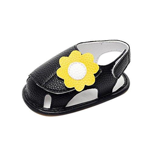 Schuhe für Baby - Sommer Sandalen - Baby Sandalen Gladiator - Fashion Sneaker - Casual Slipper - Schuhe für Kinder rutschfester Sohle für Babys für 0-3 3-6 6-9 9-18 18-24 Monat (18~24M, Rose) Schwarz