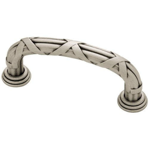 - Liberty PN1517-BSP-C 3-Inch C-C Ribbon and Reed Kitchen Cabinet Hardware Drawer Handle Pull