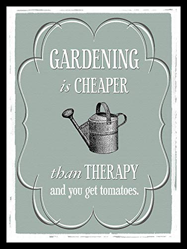 - WallDector Gardening is Cheaper Than Therapy Iron Poster Painting Tin Sign Vintage Wall Decor for Cafe Bar Pub Home Beer Decoration Crafts