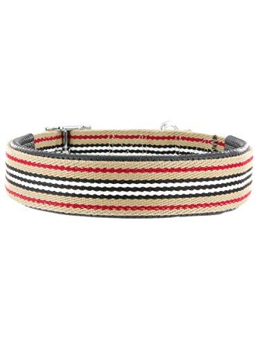 "Kakadu Pet Angus Padded Collar, Big Dog Collar, Large, 1 1/2"" x 26"", Stripes"