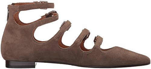 Fibbia Sienna Flat In Pelle Scamosciata Taupe Scura