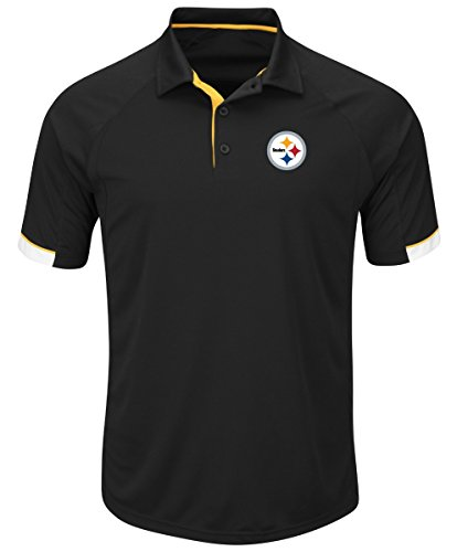 - Majestic Pittsburgh Steelers NFL Last Minute Win Men's Short Sleeve Polo