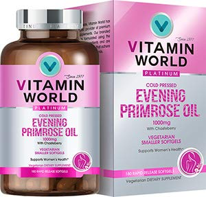 Vitamin World Platinum Evening Primrose Oil 1000 mg. 180 Softgels, Cold Pressed, with Chasteberry, Women's Health, Vegetarian by Vitamin World (Image #3)