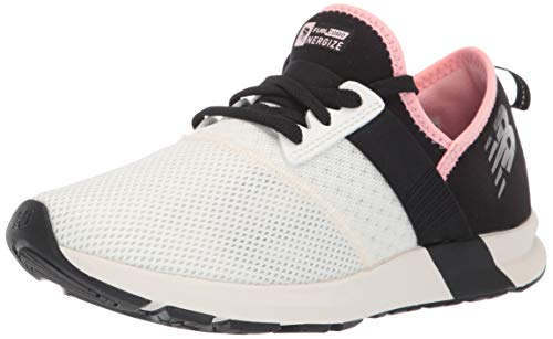 New Balance Women's FuelCore Nergize V1 Sneaker, SEA Salt/Black/Guava GLO, 6 B US