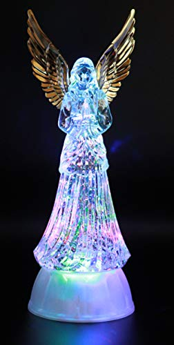 Angel LED Lighted Sparkling Multi-Color Changing Figurines 12.5'' Prayer Angel Home Decorative/Decor Figurine Faith Hope Love Peace Angel Statue- by Crystal Collection