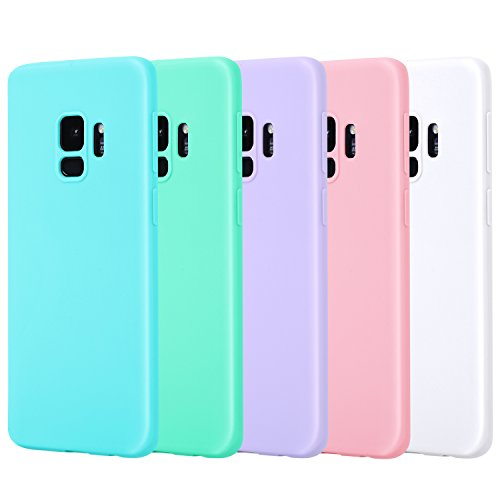 - Galaxy S9 Case, Pofesun 5 Pack Slim Fit Samsung Galaxy S9 Case TPU Rubber Soft Skin Liquid Silicone Protective Case Cover for Samsung Galaxy S9 5.8