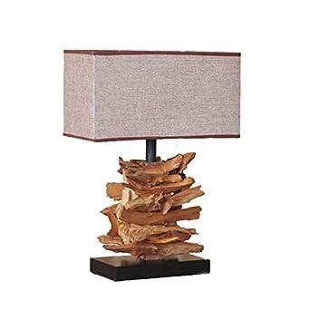 Gydd Lampe De Table Classique Thuja Racine Sculpture Accompagne Zen