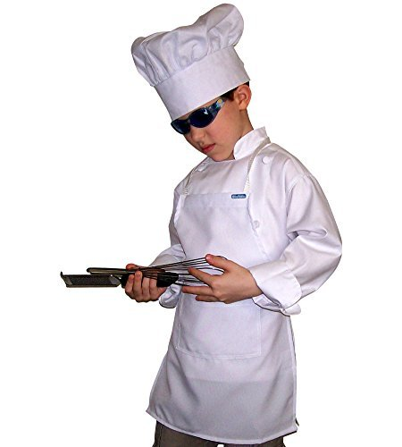 Lot of 20 M Chefskin Lite White Apron Kids Children 8-12 Yrs 18 X 28 Fabric by CHEFSKIN