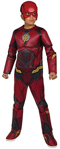 Rubie's Costume Boys Justice League Deluxe Flash Costume, Medium, Multicolor -