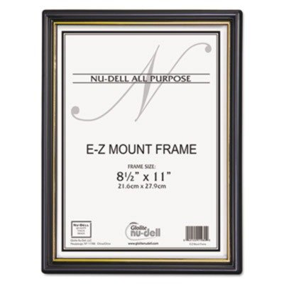 NUD11818 - Nu-dell EZ Mount Document Frame w/Trim Accent