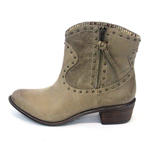 Lucky Brand Cowboy Superb estilo tobillo botas de mujer talla UK 3.5 Gris - Chinchilla