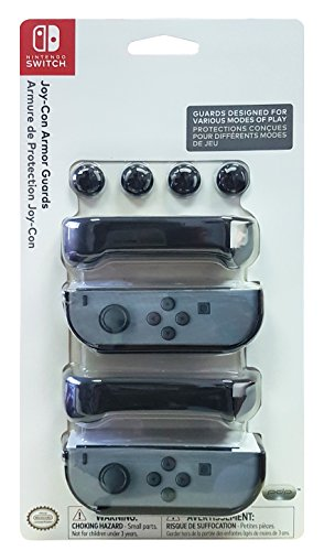 Nintendo Switch Joy-Con Armor Guards (2) Pack - Black