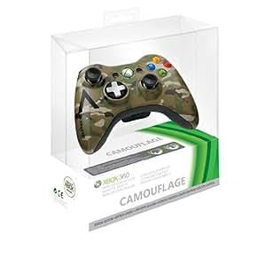 Microsoft - Mando Inalámbrico, Color Verde Camuflaje (Xbox 360)