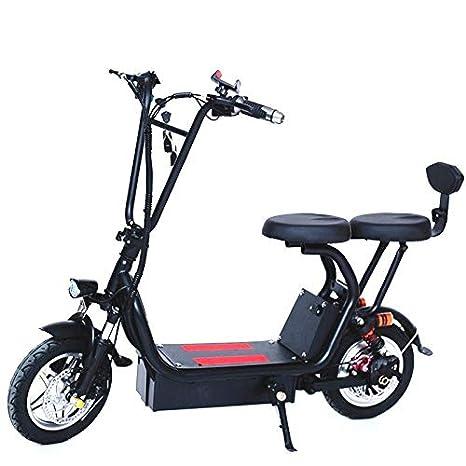 QZPM Moda Plegable Scooter eléctrico pequeño Harley Coche ...