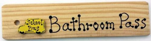 Amazon Com Bathroom Pass Aa Made In Usa Wooden