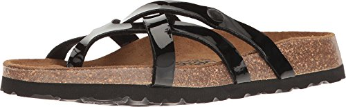 Betula Licensed by Birkenstock Women's Vinja Black Patent 1 Sandal