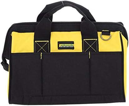 道具袋 多機能パワーツールのショルダーバッグ、オックスフォード布防水ツールバッグオーガナイザー ツール収納袋 (色 : Black yellow, Size : One size)