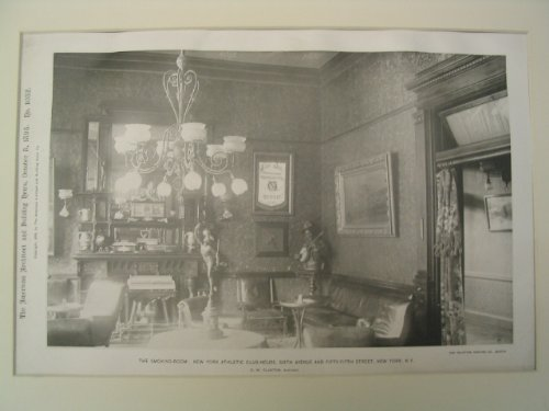 The Smoking-Room at the New York Athletic Club-House on 6th Ave. and 55th St., New York, - York 6th New Ave
