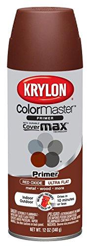 (Krylon K05131707 ColorMaster Paint + Primer, Ultra Flat Primer, Red Oxide, 12 oz.)