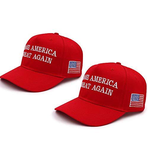 Make America Great Again Hat,Keep America Great Hat, Donald Trump 2020 MAGA KAG Hat Baseball Cap with USA Flag 2 Pack